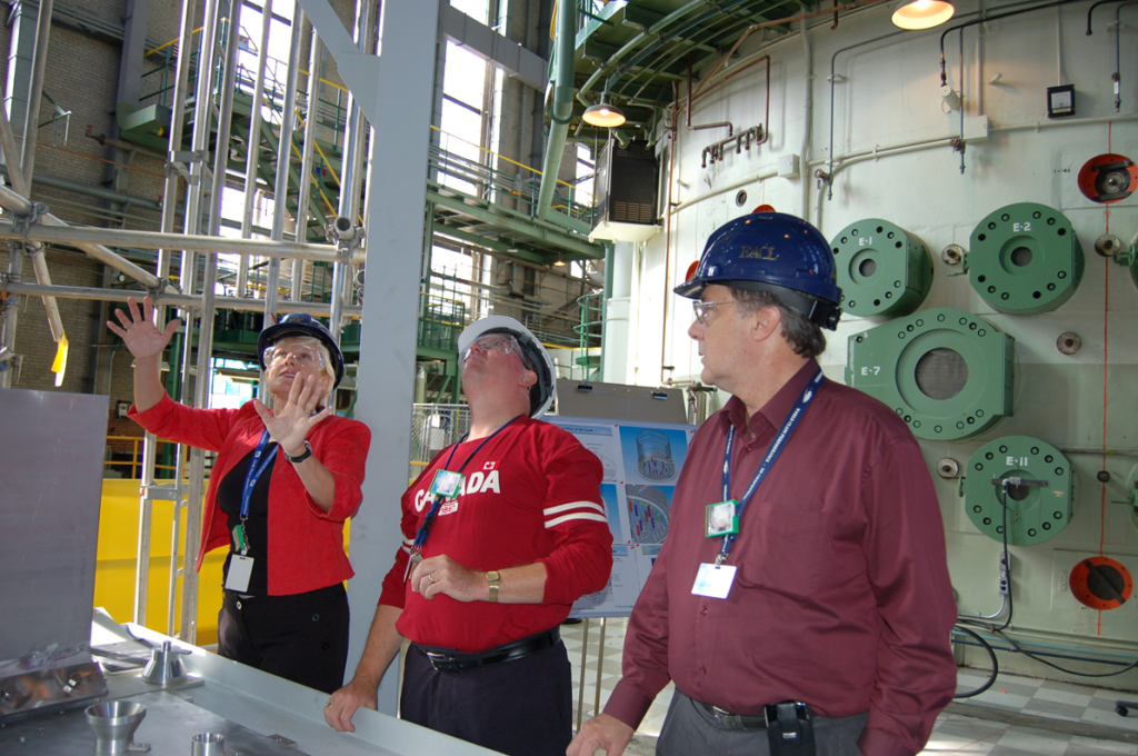 Cheryl Gallant visits the NRU reactor