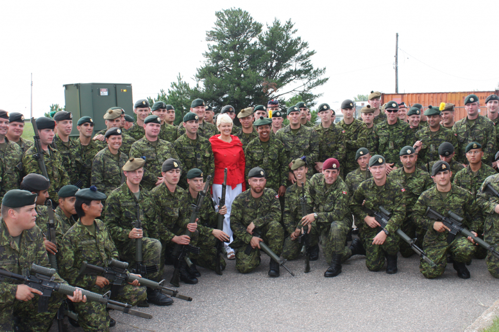 Cheryl Gallant with the troops