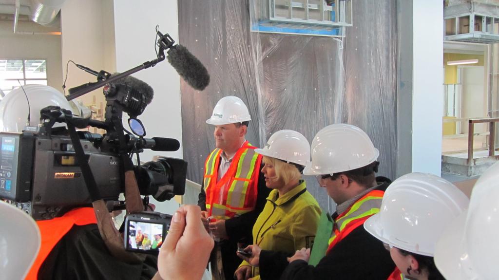 Minister Baird and Cheryl speak to the media