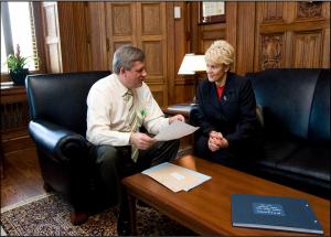 Prime Minister Stephen Harper and Cheryl Gallant