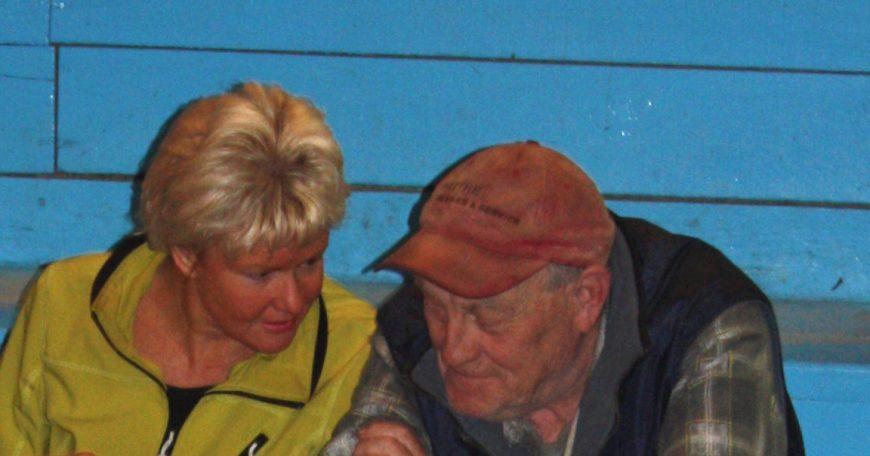Cheryl Gallant, MP in conversation with local Renfrew County farmer Tom Ryan
