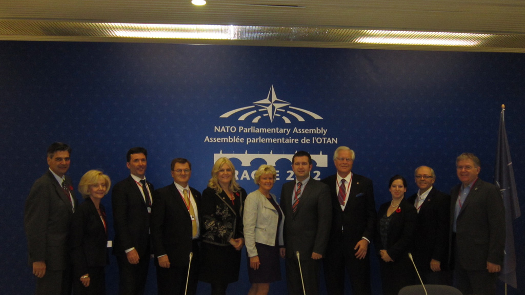 Canadian Delegation to NATO PA after a bilateral meeting with Head of Delegation for Czech Republic, Jan Hamacek