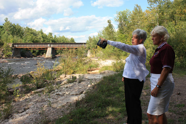 Cheryl-at-a-proposed-Petawawa-dam-site