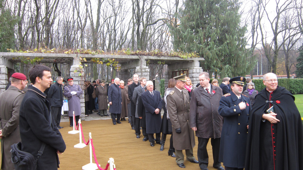 Remembrance Day Ceremony in Commonwealth War Cemetery  @ Olsany, Prague