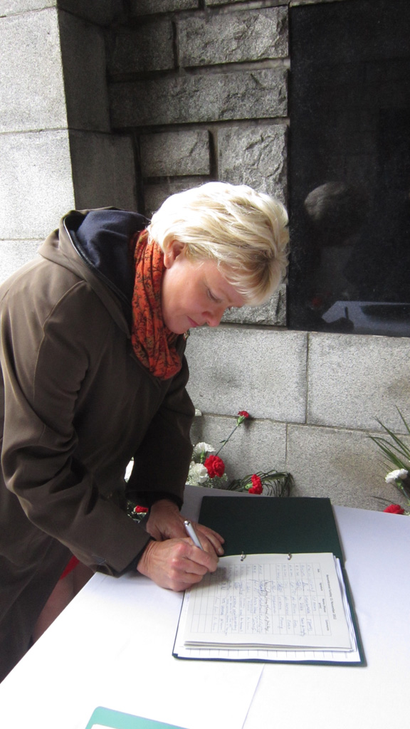 Signing Book of Remembrance In Commonwealth War Cemetery  @ Olsany, Prague