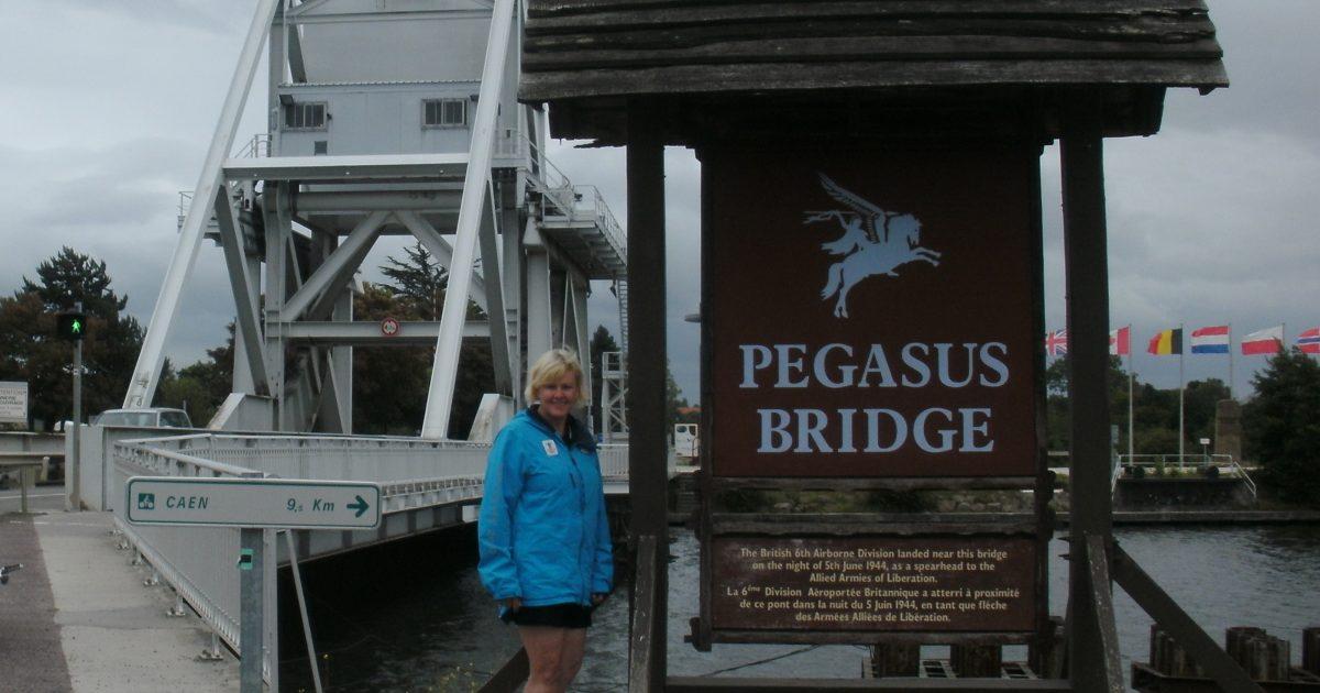 MP Cheryl Gallant at Pegasus Bridge