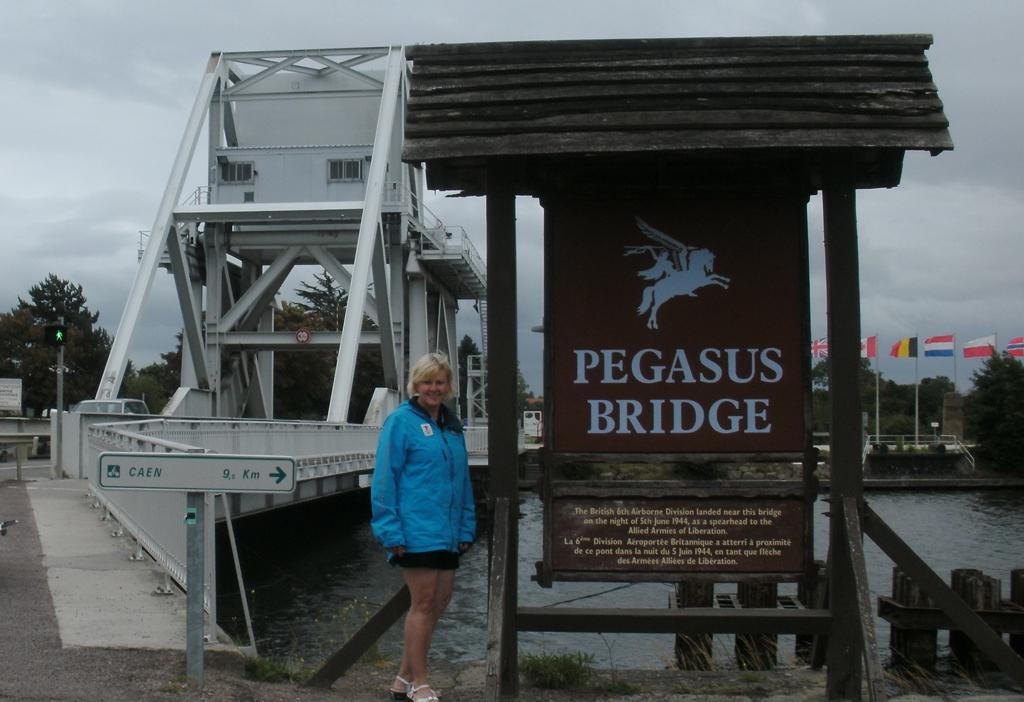 Cheryl Gallant at Pegasus Bridge