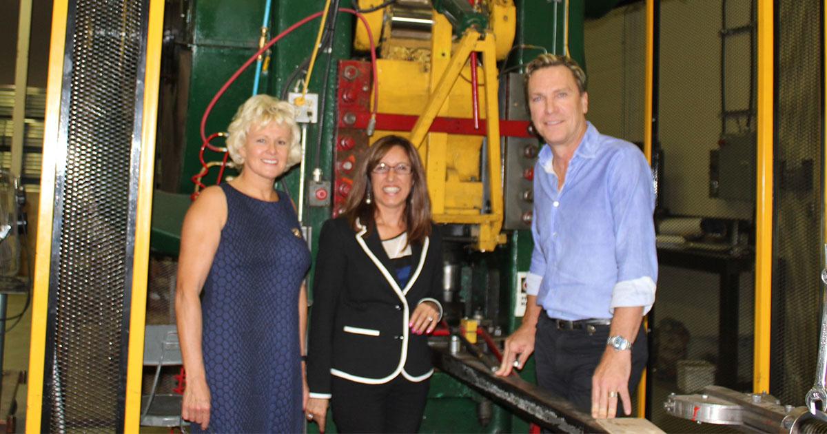 MP Gallant visiting Triodetic Canada in Arnprior Ontario