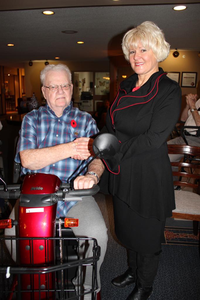Joseph Dusty Reid is honoured or his service in WWII
