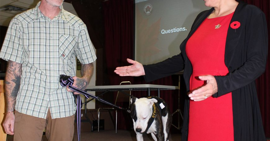 photo-of-Mark-Lapointe-Courageous-Companions-dog-trainer-with-Cheryl-Gallant-MP-1200