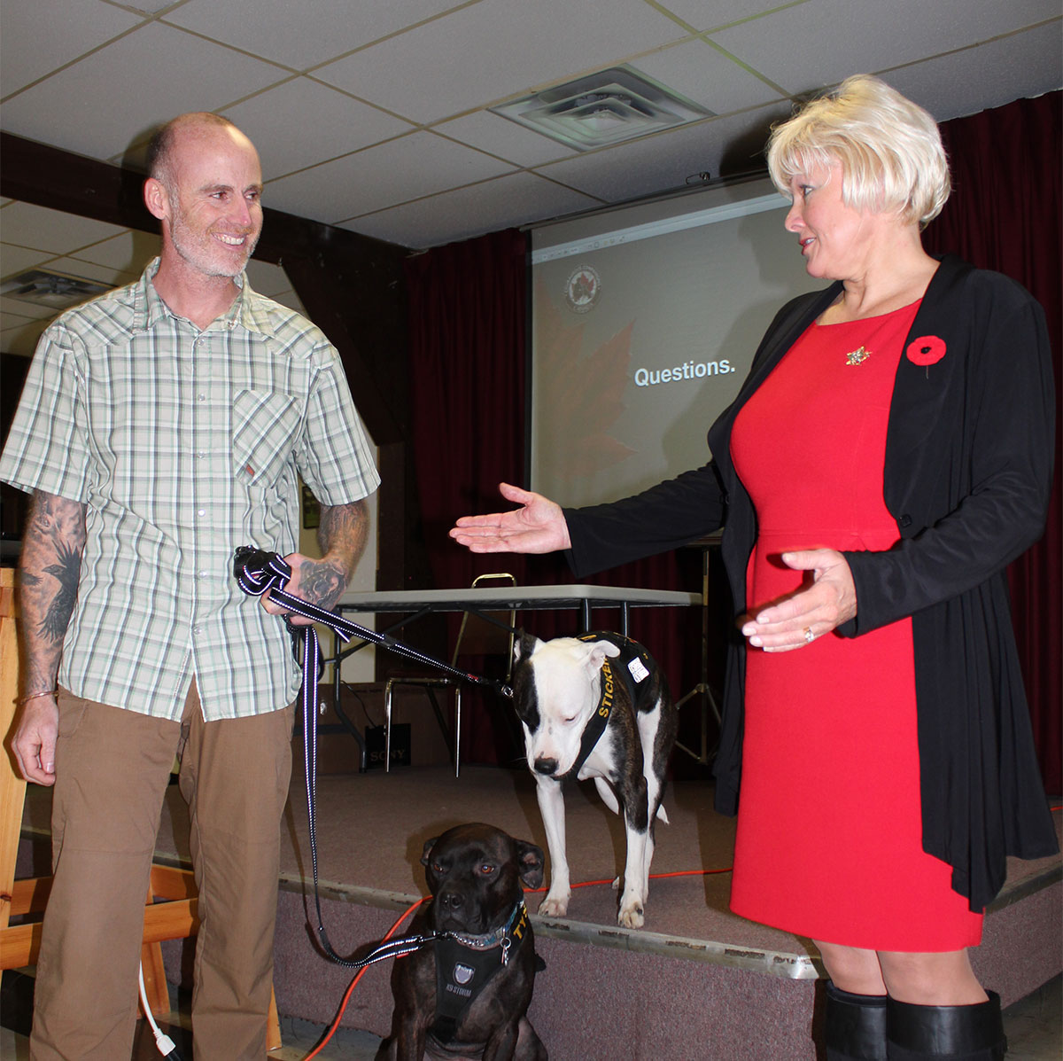 Cheryl Gallant Hosts Successful Soldiers/Veterans Information Therapy Session Focus on alternative therapies for PTSD