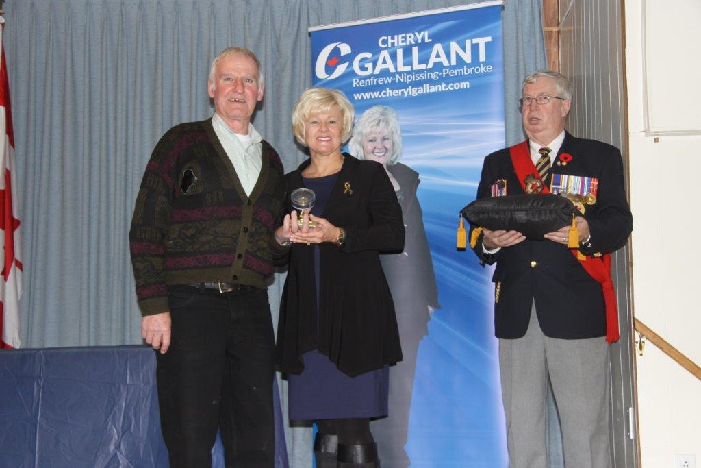 Mp Gallant Presents Stuart Nicholson with MP Commendation