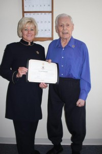 February 20 - MP Gallant Present Harold Gutzman with WWII Veteran Tribute Pin