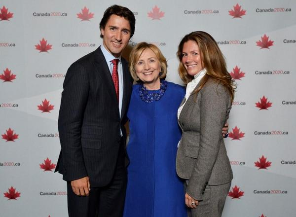 trudeau and clinton