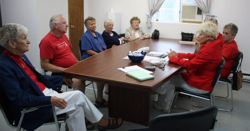 Cheryl listening to Arnprior Seniors