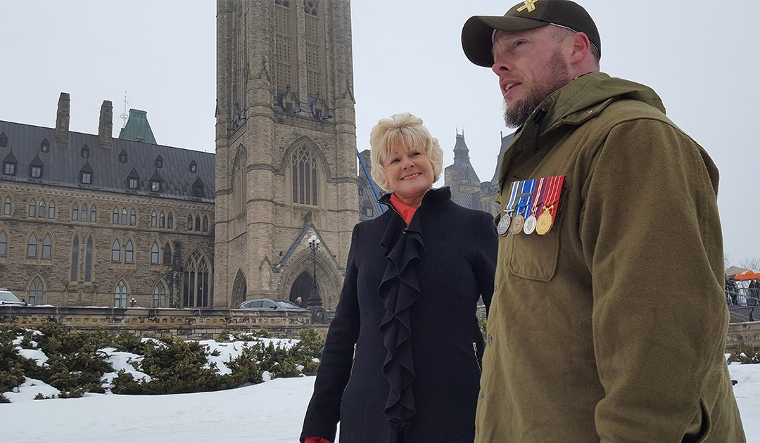 MP Cheryl Gallant Joins Veterans 'Left In The Cold' Protest