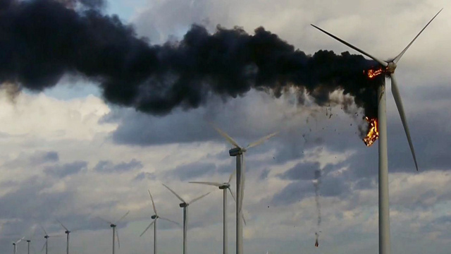 Burning Windmill