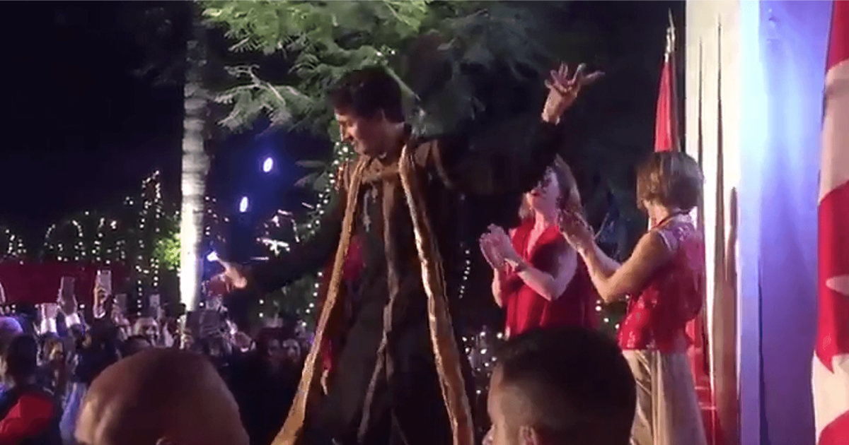 Dancing Trudeau in India