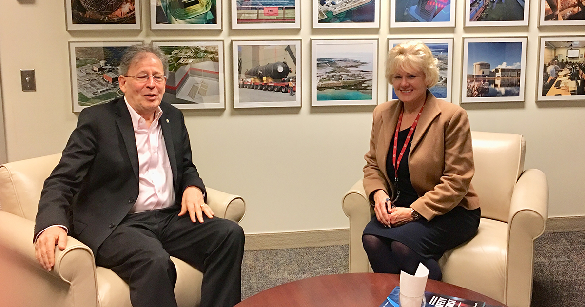 Cheryl Gallant Thanks CNSC President for his Service May 10 2018 1200px