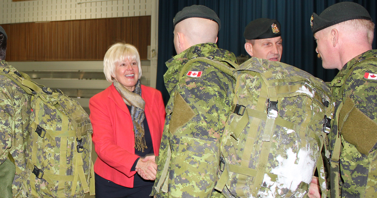 NEWS RELEASE MP Cheryl Gallant questions DND equipment shortages 1200