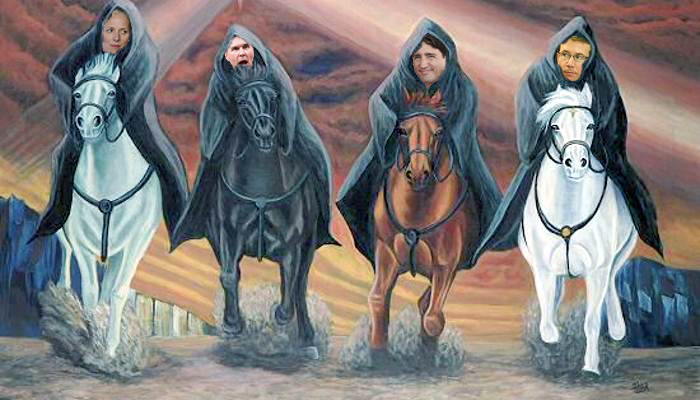 Four Horsemen of the Liberal Apocalypse