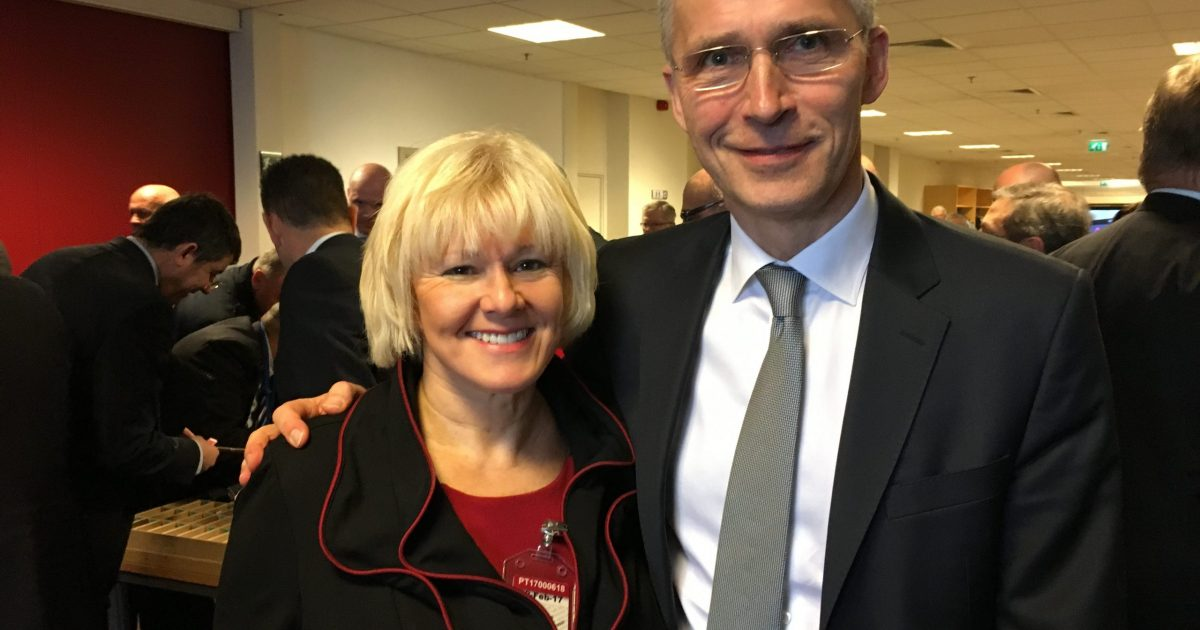 MP Cheryl Gallant with NATO General Secretary Jens Stoltenberg