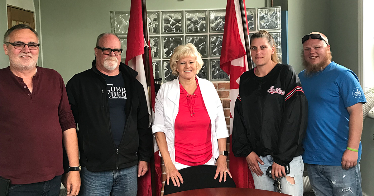 Cheryl meets with members of Local 639 1200x630