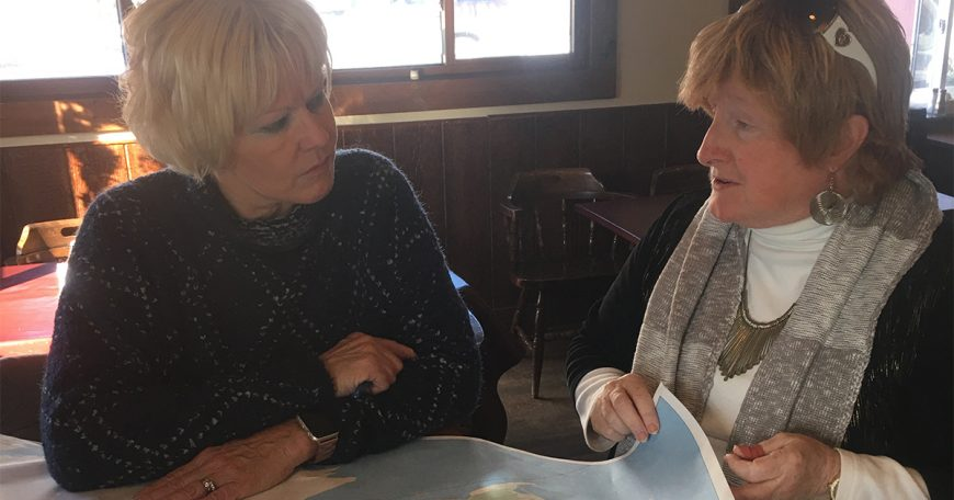 Reviewing areas damaged by high water on Wolfe Island with Judith Greenwood-Speers 1200x630